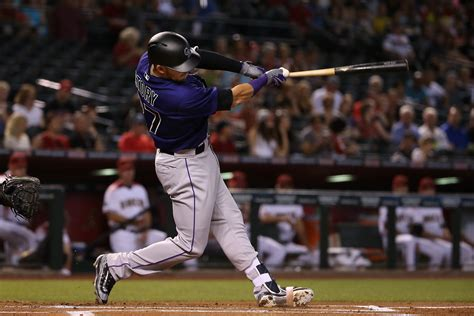 rockies shortstop trevor story hits four home runs in