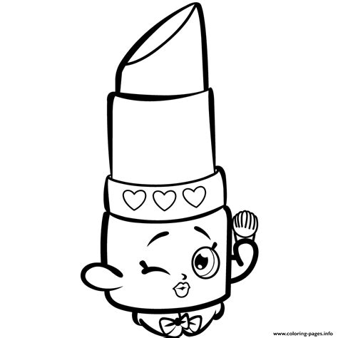 Shopkins Coloring Pages Lippy Lips | beauty lippy lips shopkins season 1s coloring pages printable