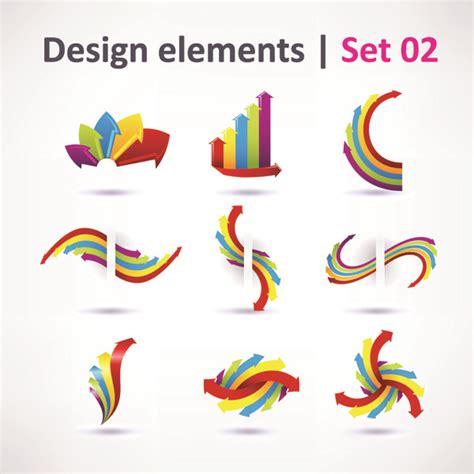 beautiful graphic design 3 sets of beautiful vibrant graphic design vector free