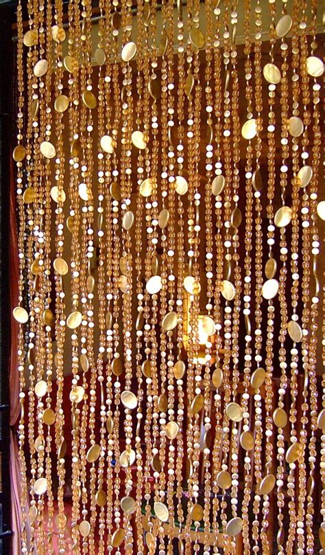 gold beaded curtains new chagne acrylic gold disc bead curtain