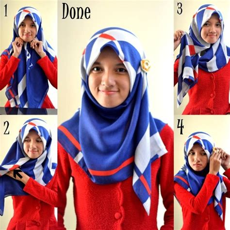 tutorial berhijab tanpa ninja tutorial hijab modern tanpa ninja terbaru 2016