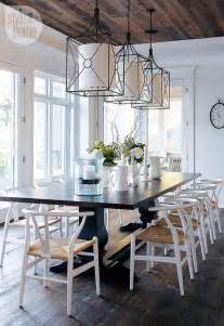 Rustic Dining Room Lighting Dining Room Cottage Dining Room Rustic Cottage Dining Room With Iron Pendant Lights Wishbone