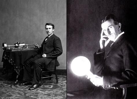 early tech rivalry between edison and nikola tesla