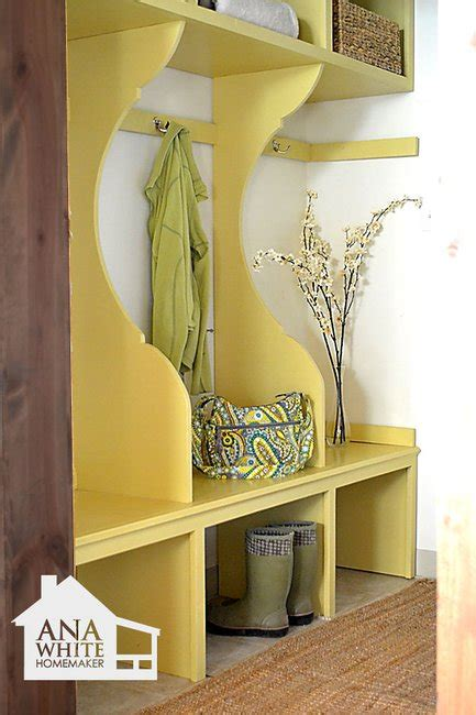 ana white mudroom bench ana white build a smiling mudroom free and easy diy