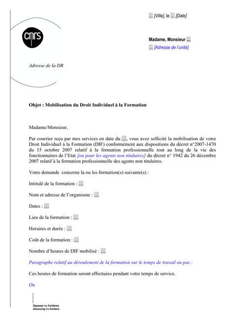 Exemple De Lettre Demande De Cif à L Employeur Modele Lettre Demande Temps Partiel De Droit