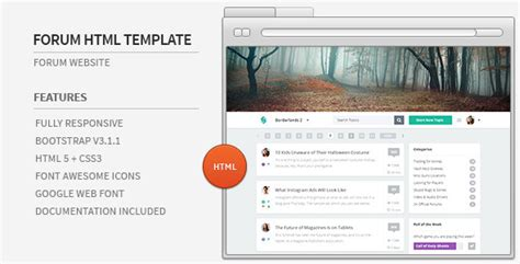 Forum Website Html Template By Azyrusmax Themeforest Forum Website Template