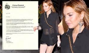 Lohans Banned From by Lindsay Lohan Banned From The Chateau Marmont