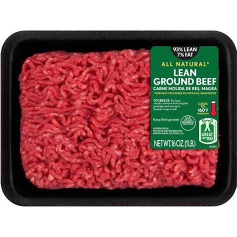 protein 80 20 ground beef 93 lean 7 lean ground beef 1 lb walmart