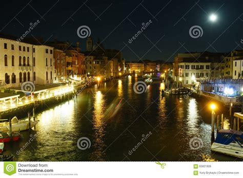 canal sound and light grand canal night view venice italy stock photo image