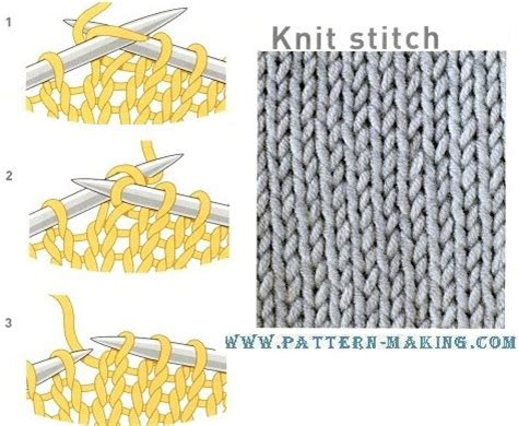 knit make one knitting stitches make one purl comsar for