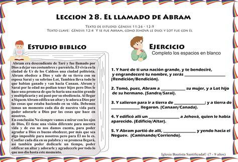 preguntas cristianas para varones lecci 243 n 28 el llamado de abram iglesia de ni 241 os
