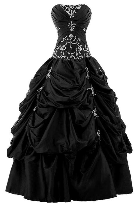 Black Sweet Style Dress N0264 sunvary gown strapless appliqued ruffle