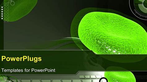 powerpoint template a magnified view of green colored red