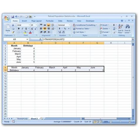 format excel uppercase how to turn rows into columns with excel s transpose function