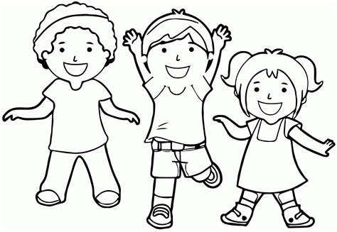 Coloring Pages Children Playing Coloring Home Coloring Pages Toddlers