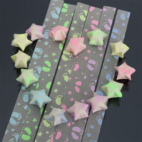 Crafts Using Paper Strips - 30pcs handmade folding strips origami luminous