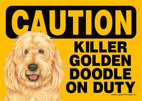 goldendoodle sign killer goldendoodle on duty sign magnet velcro 5x7
