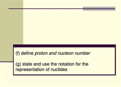 proton number and nucleon number ppt 5 3 1 the nuclear atom powerpoint presentation id