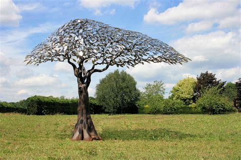 tree metal reed arbour metallum metal tree garden sculpture at