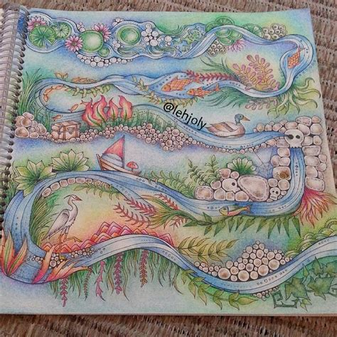river scene coloring page river scene enchanted forest colouring page ideas