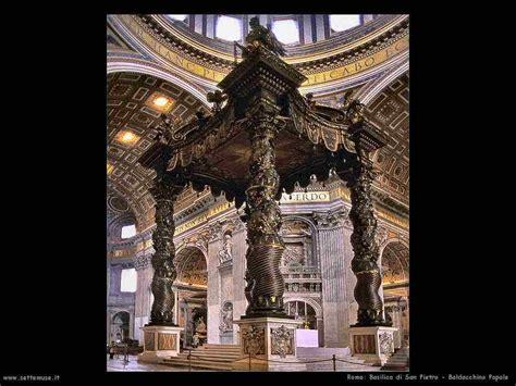 baldacchino san pietro basilica di san pietro roma e opere d arte settemuse it