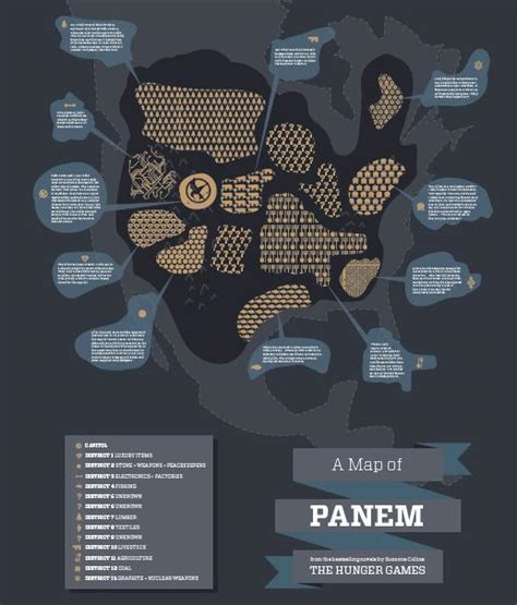 hunger games map themes panem the hunger games