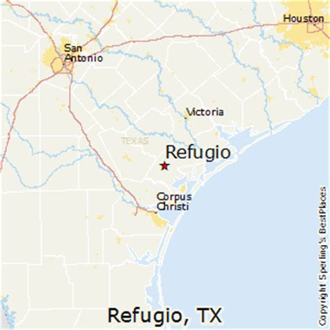 refugio texas map best places to live in refugio texas