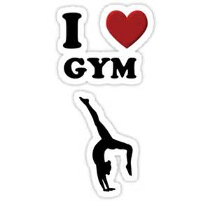 Sticker Decor For Walls quot i love gym quot stickers by mactosh redbubble