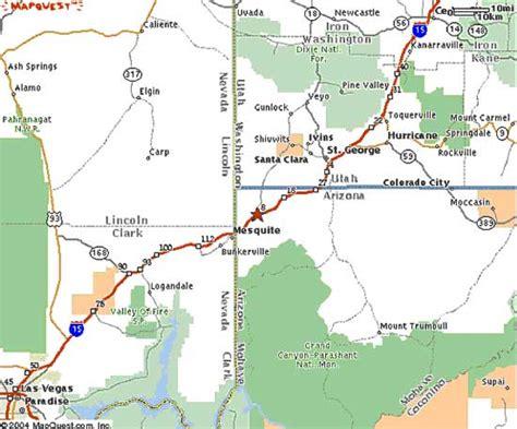 map of st george utah beaver dam ranch