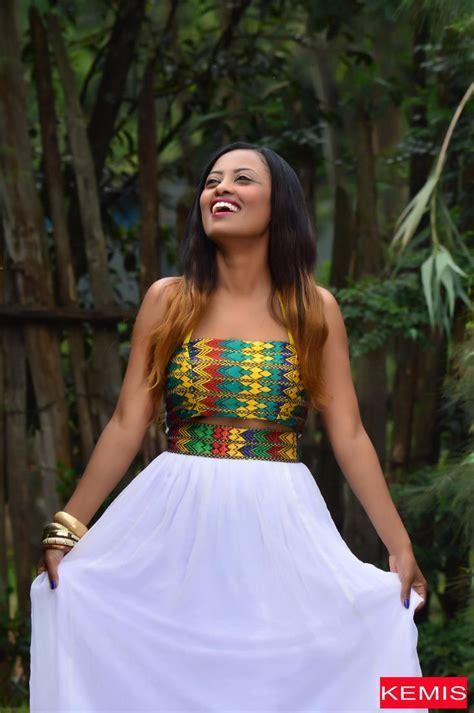 Ethiopian Eritrean habesha dresses crop top skirt