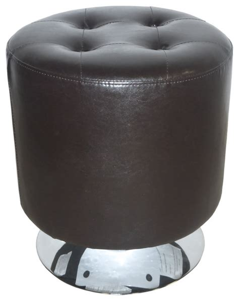 round swivel ottoman ruby round 360 degree swivel ottoman brown bonded leather
