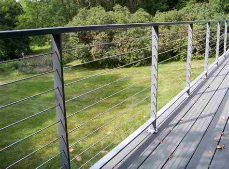Wire Handrail Deck Patio Porch Balcony Cable Railing Modern Deck