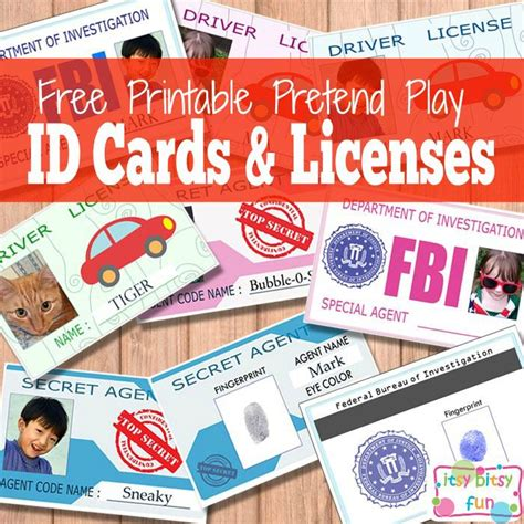 printable teacher id cards free printable licenses and id cards for kids free