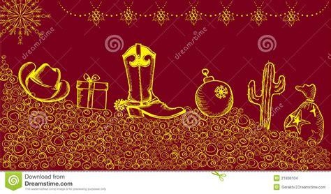 imagenes de navidad vaqueras tarjeta de navidad del vaquero con los elementos del d 237 a