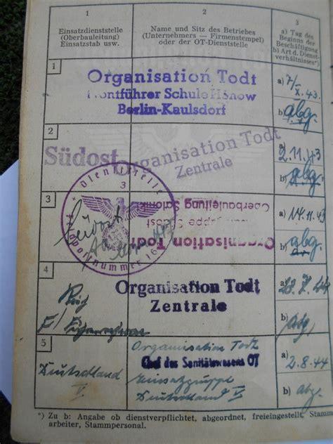 1326073605 l organisation todt en france dienstbuch organisation todt d un truppf 252 hrer