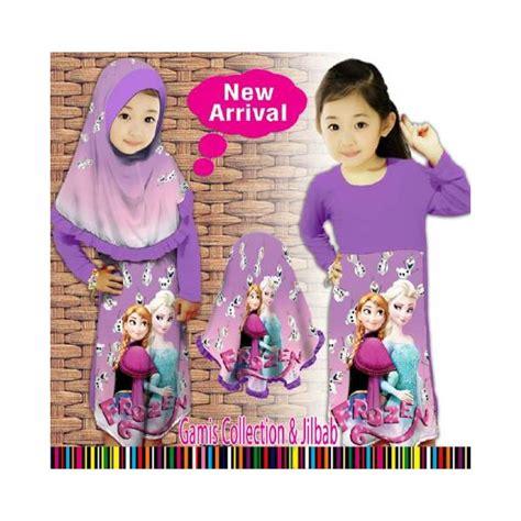 Au2 Gamis Anak Frozen Pink baju gamis muslim frozen ungu violet pineapple