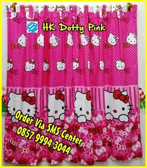 jual wallpaper hello kitty murah jual gorden hello kitty murah motif terbaru online
