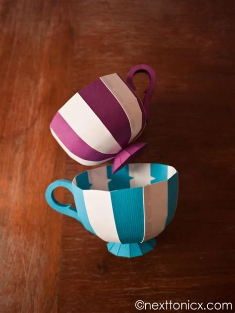 Diy Construction Paper Crafts - diy paper tea cups diy arts crafts