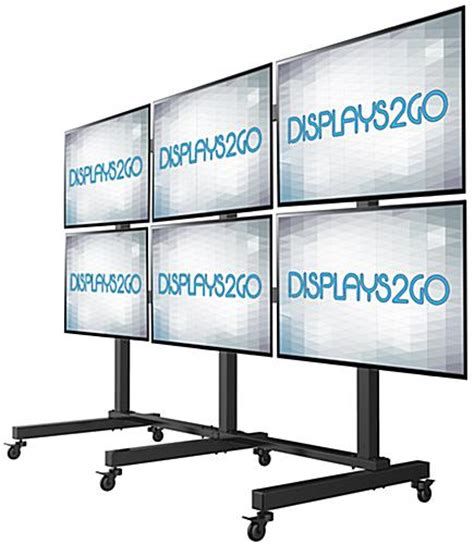 freestanding monitor wall rolling 6 screen display stand