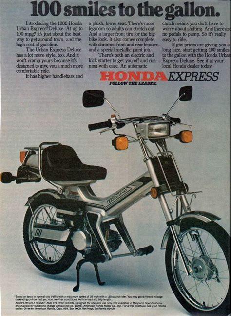 1982 honda express 1982 honda express motorbike vintage motorcycle ads