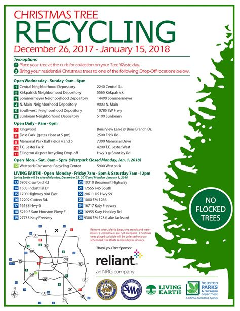 christmas tree recycling december 26 2017 january 15