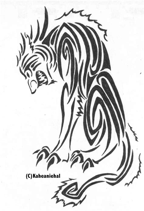 sith tattoo designs tribal cu sith by mongrelistic on deviantart