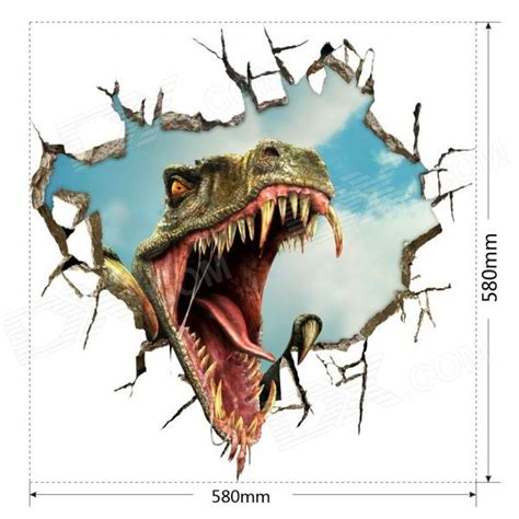 Dinosaur Wall Stickers 3d dinosaur art wall decal pvc removible etiqueta de la