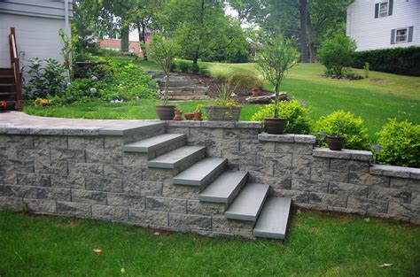 outside steps stairs steps design ideas cornerstone wall solutions