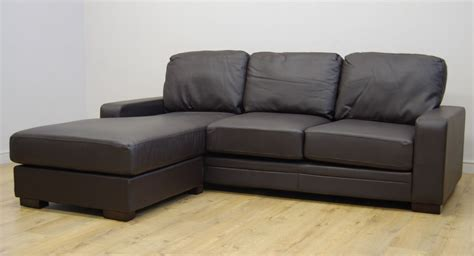 Leather Sofa On Clearance Clearance Westpoint Brown Leather Corner Sofa T800 Ebay