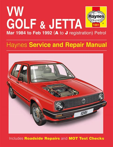 haynes manual vw golf jetta mk 2 petrol mar 1984 feb 1992