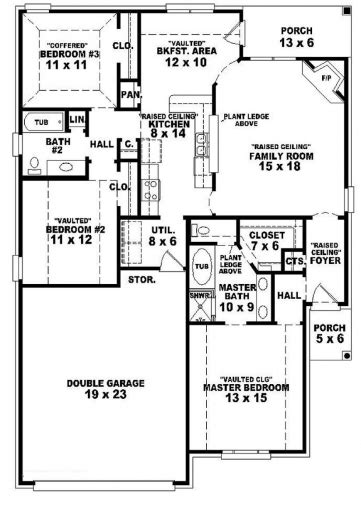 3bedroom 2bath house plans awesome 3 bedroom 2 bath 1 story house plans bedroom