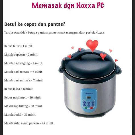 pressure cooker noxxa quot pressure cooker noxxa jimat masa menyenangkan tugas anda