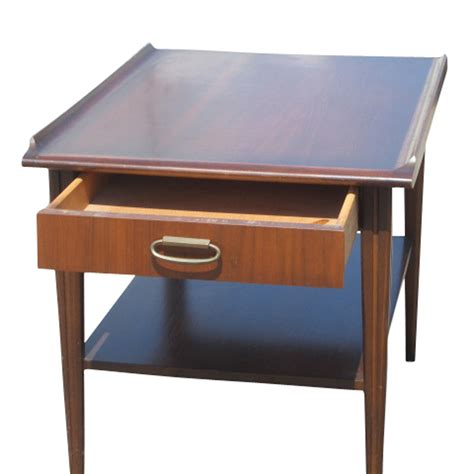 Vintage End Table by Vintage Mid Century Scandinavian Style Mahogany End Table