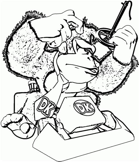 donkey kong coloring page coloring home